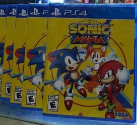 Sonic Mania Ps4 Nuevo Sellado Stock