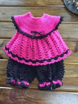 Vestidos en Crochet para Babys