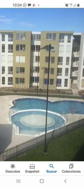 Arriendo hermoso apto conjunto alborada hacienda rosa blanca 3 habitacion con armario 2 baños piscina parqueader
