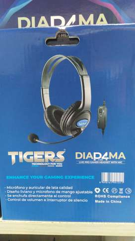 Diadema gamer con microfono