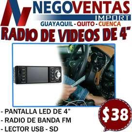 RADIO PARA CARRO  REPRODUCTOR DE VIDEO