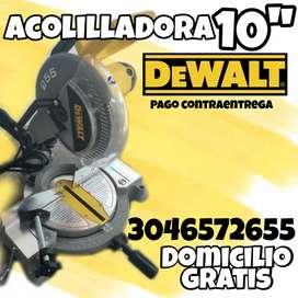 ACOLILLADORA/SIERRA INGLETADORA DEWALT 10 PULGADAS