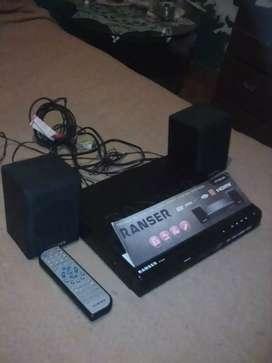 DVD RANSER CON USB Y PARLANTES