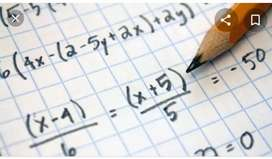 Clases y trabajos de matemáticas
