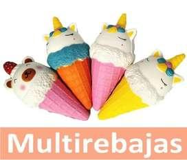Juguete Divertido Para Niños  De Helado Jumbo Squishy Unicornio Perfumado Colores