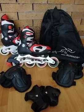 2 pares de patines