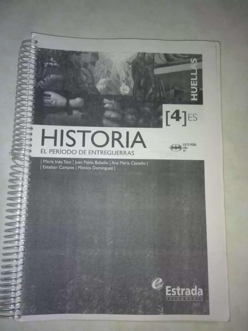 Libro Historia editorial Estrada Huellas cuarto año 0