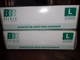 Guantes de latex para examinar