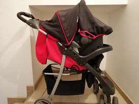 Coche con silla para carro marca infantil kññ