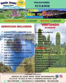 Tour ecuador 10 dias no noches salida enero 2