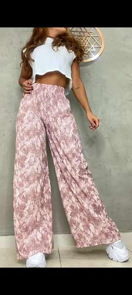 Pantalon de seda bota ancha para dama