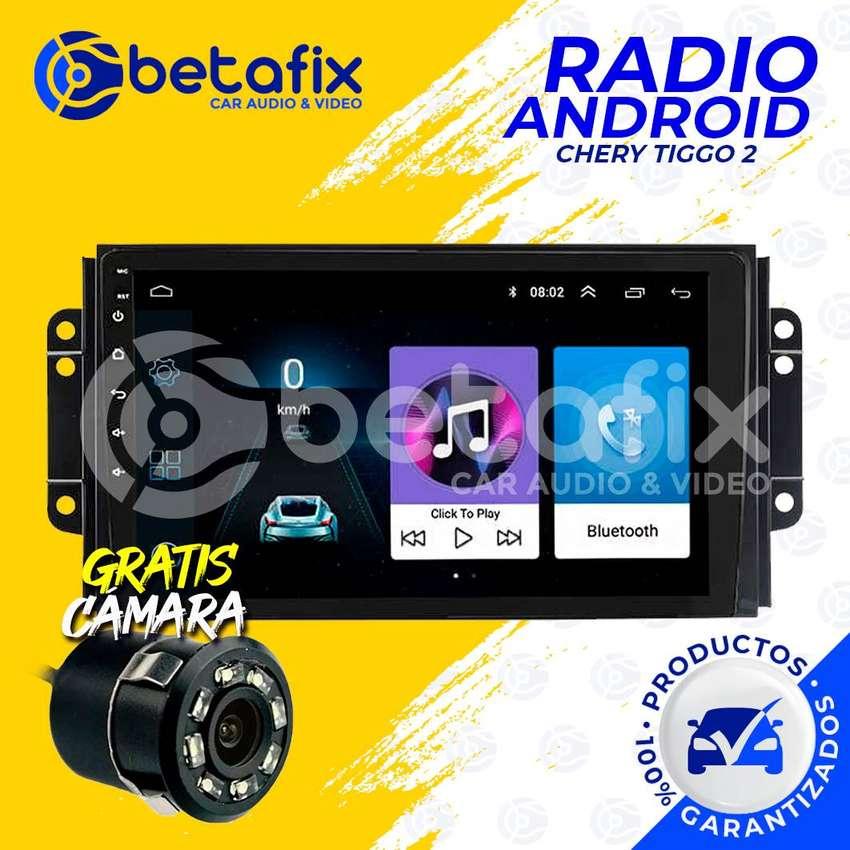 RADIO ANDROID PARA CHERY TIGGO 2 2017 GPS BT USB WIFI BETAFIX 0