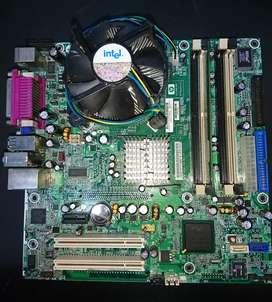 Intel dual core + placa intel de hp + 1gb ram ddr2