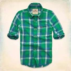 Camisa Hollister De Sarga Grandview- Importado - EEUU