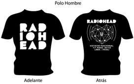 Polos Radiohead En Lima, Tour 2018. Para Hombre Y Mujer