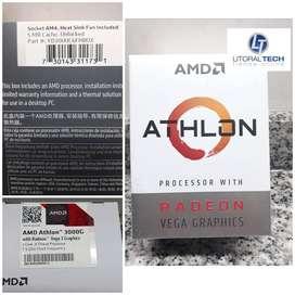 Microprocesador AMD 3000G. Athlon. 3.5 Ghz. 4 MB. BOX. Radeon Vega 3