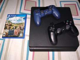 Ps4 Play station 4 Slim 1TB  2 controles  1 juego
