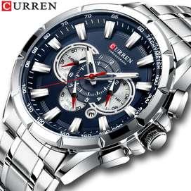 Reloj CURREN Original silver blue hombre