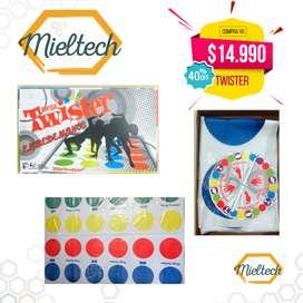 juego de mesa tapete twister con colores familia
