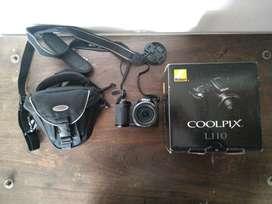 Vendo camara Nikon COOLPIX L110 con Baterías, estuche y caja