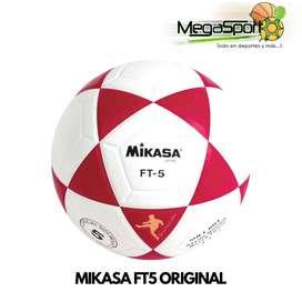 Balón Mikasa FT5 Original  De Cuero Profesional para Fútbol y Ecuavolley