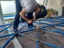 Herrería, construcción metálica, estructuras, rejas, aberturas.