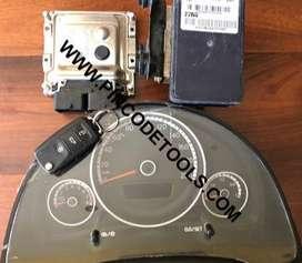 Set Completo de Inyeccion de VW UP  ECU Bosch ME17.5.24  Instrumental  ABS  Llave