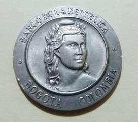 Medalla en plata Banco de la república