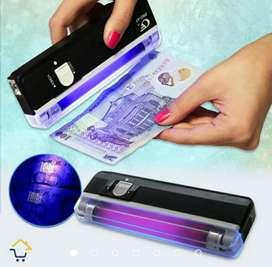 Chequeador de billetes portátil detector probador UV luz negra ultravioleta RF DL 01
