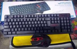 Teclado con Mouse Inalámbrico HK6500