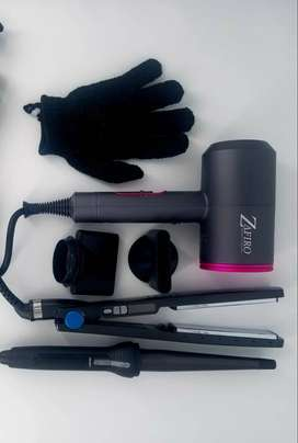 Combo Zafiro (Secador, plancha, pinza y guante)