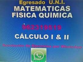 Egresado U.N.I. dicta clases de Matemáticas Física y Química