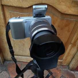 Camara Sony Nex 3 con tripoide