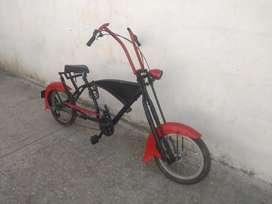 Bicicleta tipo Harley de cambios