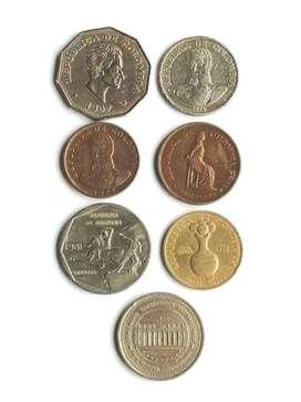 Monedas años setenta y ochentas.