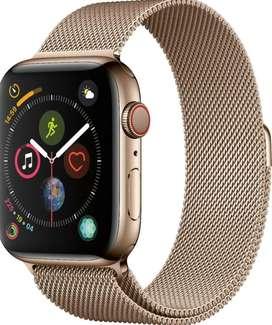Apple Watch series 5 40mm version de lujo caja en acero crystal en Zafiro