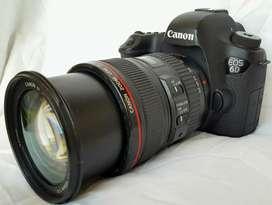 Canon 6D con lente canon 24 105 f4 L is