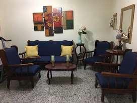 Muebles Juego de Sala Antiguo Grande
