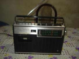 Radiograbador National Panasonic 447f Japan Funcionando Leer