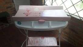 Bañera o tina cambiador para bebe marca prinsel