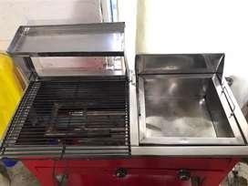 Fritador - asador con puesto para plancha y parrilla negociable