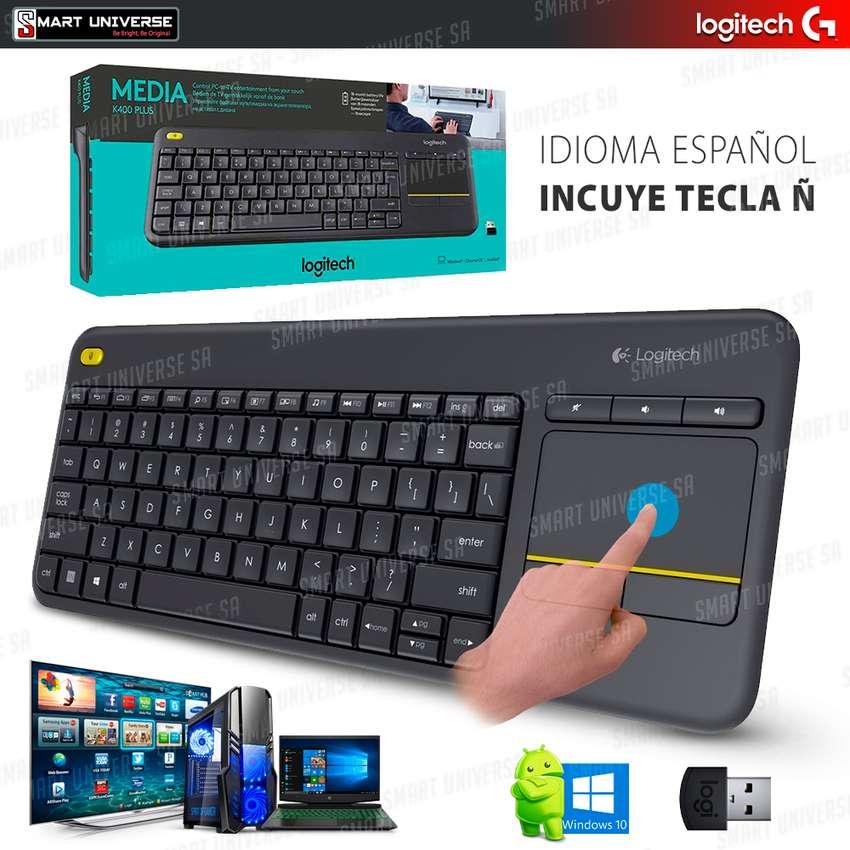 Teclado Inalambrico Logitech K400 Plus Touchpad Smart Tv Pc laptop Tablet Bluetoth 0