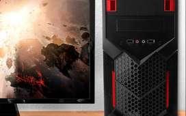 Chasis gamer Gabinete negro con rojo para PC