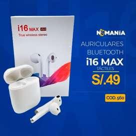 Audífonos Bluetooth táctiles i16 max