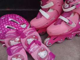 Rollers hello kitty kit completo talle 33/36