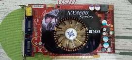 Tarjeta de video geforce GT NX8600 series de 256 MB