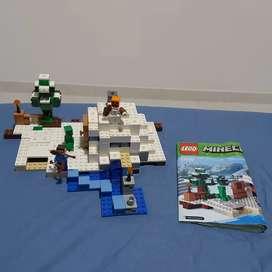 Lego minecraft escondite de nieve