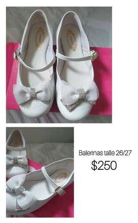 Balerinas de Fiesta Niña Talle 26-27