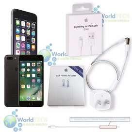 Cargador Mas Cable D Datos Usb Iphone 5 5s C SE 6 6s 7 8 PLUS X 2m