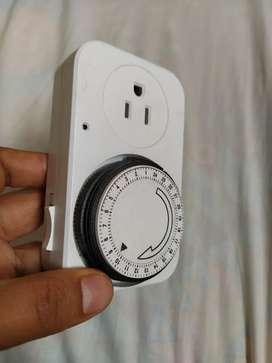 Temporizador programador eléctrico, timer, reloj 110v 24h